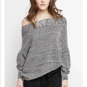 FREE PEOPLE Alana One-shoulder Sweater In Grey
